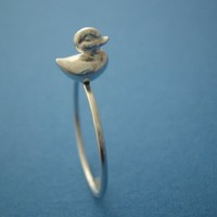 Thin Band Ducky Ring