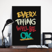 Modern Graffiti Typography Inspirational Life Quotes A4 Big Art Print Poster Wall Picture Canvas Painting No Frame Bar Home Deco