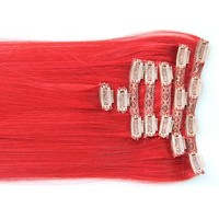 """Red Carpet:  21"""" Clip In 100% Human Hair Extensions"""