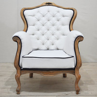 2 x Vintage Armchairs - white star