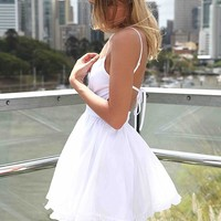 PRE ORDER - LADY LUCK DRESS (Expected Delivey 16th May, 2014) , DRESSES, TOPS, BOTTOMS, JACKETS & JUMPERS, ACCESSORIES, 50% OFF SALE, PRE ORDER, NEW ARRIVALS, PLAYSUIT, COLOUR, GIFT VOUCHER,,White,CUT OUT,BACKLESS,SLEEVELESS,MINI Australia, Queensland, Bri