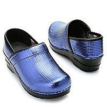 """Signature by Sanita """"Cario"""" Embossed Leather Closed Back Slip-on Clogs"""