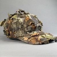 Military Army Camo Leaf Cap Deciduous Leaves Hunting Fishing Airsoft Wargame Hat
