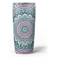 Green and Pink Circle Mandala v9 Yeti Rambler Skin Kit