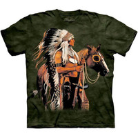 PAINTED AND PROUD The Mountain Native American Indian Chief Horse T-Shirt S-3XL