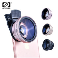 Macro Mobile Lens 0.45X Super Wide Angle Lenses 37mm Digital High Definition for iphone 7 6s xiaomi redmi note 3 pro 2 camera