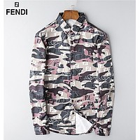Fendi Fashion New More Letter Women Men Camouflage Long Sleeve Top Shirt