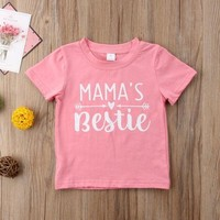 MAMA'S Bestie Baby Kid Child Toddler Newborn T-shirt