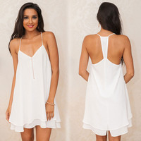White Cami Summer Dress