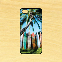 Surf Boards Palm Tree Phone Case iPhone 4 / 4s / 5 / 5s / 5c /6 / 6s /6+ Apple Samsung Galaxy S3 / S4 / S5 / S6