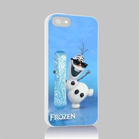 Olaf Frozen for Iphone 4 4s 5 5c 6 6plus Case (Iphone 5 white)