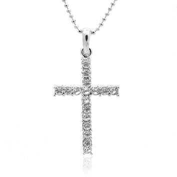 Crystal True Religious Holy Cross Necklace