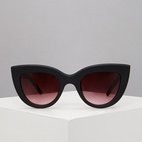 Matte Cat-Eye Sunglasses