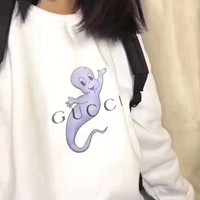 Gucci hoodie Exclusive homemade spoof crying tide brand ghost ghost Elf Ghost sweater retro plus velvet