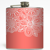 Victoria - White Flower Flask