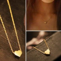 Dainty Gold Heart Necklace from P.S. I Love You More Boutique