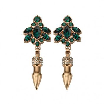 Crystal Nympth Earrings with Pave Spikes - Mawi - Designers | 30PonteV.com