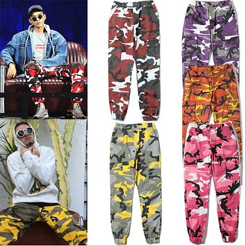Camouflage street military wind Street dance pants camouflage tooling trousers