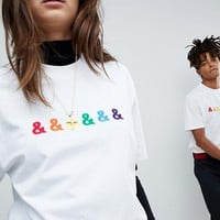 ASOS DESIGN x glaad& relaxed t-shirt with embroidery at asos.com