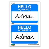Adrian Hello My Name Is - Sheet of 2 Stickers
