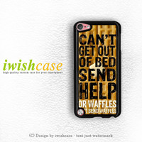 Super Cute Funny Waffle Pancake Food iPod Touch 4 Case iPod Touch 5 Case