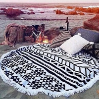 Round Design 2016 Hot Sale Hippie Scarf Women Beach Cover Up Hippie Tapestry Beach Throw Roundie Mandala Towel Mat Bohemian
