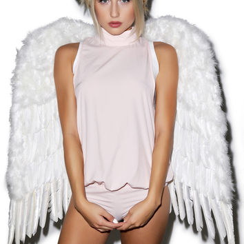 Western Fashion Touched by An Angel Wing White One