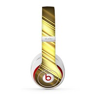 The Shimmering Slanted Gold Texture Skin for the Beats by Dre Studio (2013+ Version) Headphones
