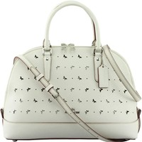 Coach Women's Sierra Satchel In Perforated Crossgrain Leather, Style F59344