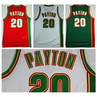 Man 20 Gary Payton Basketball Jerseys Yellow Green White Color Gary Payton Jersey Sport All Stitched Top Quality On Sale