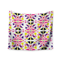 "Miranda Mol ""Summer Mood"" Yellow Purple Wall Tapestry"