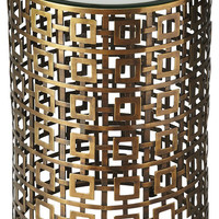 Franklin Modern Round Accent Table Gold