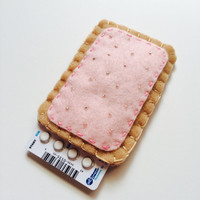 Pill Case Birth Control Cozy - Toaster Pastry (strawberry)