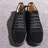 Christian Louboutin CL Low Style #2048 Sneakers Fashion Shoes Best Deal Online