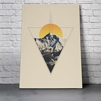 Canvas Wall Art Print - Triangle Mountains by Leftfield_Corn