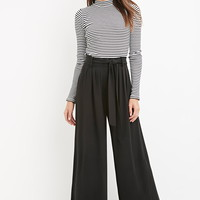Contemporary Belted Wide-Leg Trousers