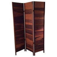 Pre-owned 3-Way Folding Wooden Screen