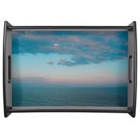Stormy Ocean Sky Serving Tray