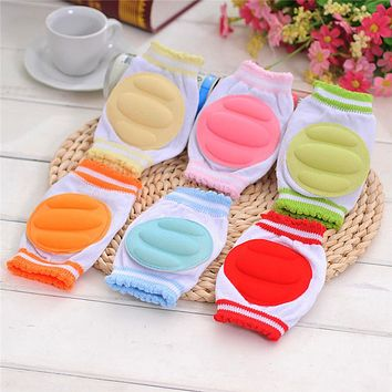 2 Pair Baby Knee pad Cozy Cotton Breathable Sponge Children Knee Pads Doll Learn To Walk Infant Knee Protector Random Color