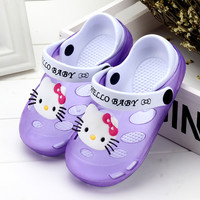 Deals Blast: New slippers home children's slippers princess sandals Summer Children Shoes hello kitty cartoon Kids Shoes slipper