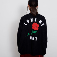 Lazy Oaf Love Me Not Cardigan - Jumpers - Categories - Womens
