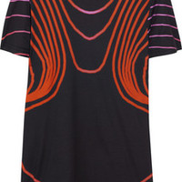 Christopher Kane Printed cotton T-shirt – 50% at THE OUTNET.COM