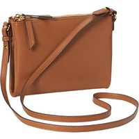 Old Navy Womens Faux Leather Crossbody Bag Size One Size - Cognac brown