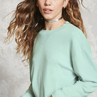 Heathered Cropped Sweatshirt