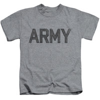 ARMY/STAR-S/S JUVENILE 18/1-ATHLETIC HEATHER-LG(7)