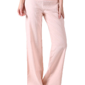 Essential Linen Pants in Light Pink