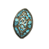 Long turquoise ring