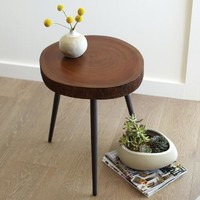 Wood Slice Accent Table