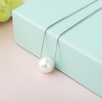 Gift New Arrival Shiny Jewelry Accessory Silver Box Pearls Elegant Stylish Necklace [10065659078]