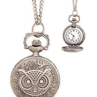 PLASTICLAND - Time Flies Pocket Watch Necklace